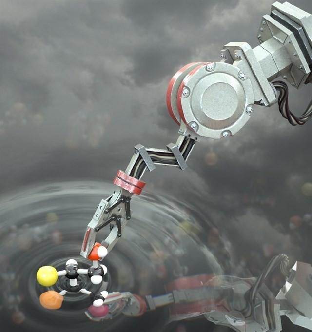 Éste es el primer robot que manipula directamente moléculas