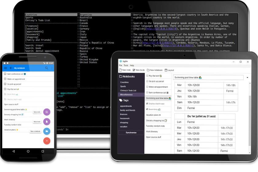 Joplin, un cuaderno de notas multiplataforma, gratuito y open source perfecto para reemplazar Evernote