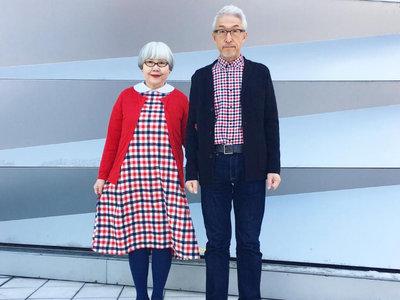 Ni el estilo ni el amor tienen edad: esta adorable pareja japonesa viste siempre a conjunto y hace las delicias de Instagram