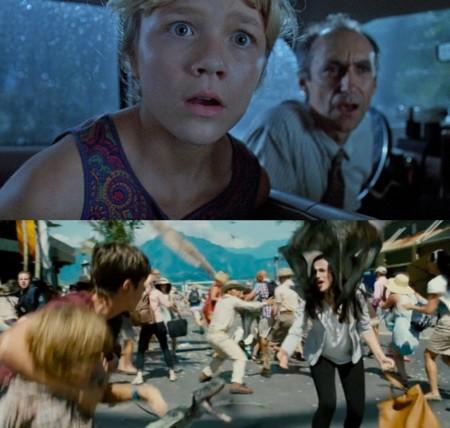 Jurassic World y Jurassic Park, descuidar a los críos