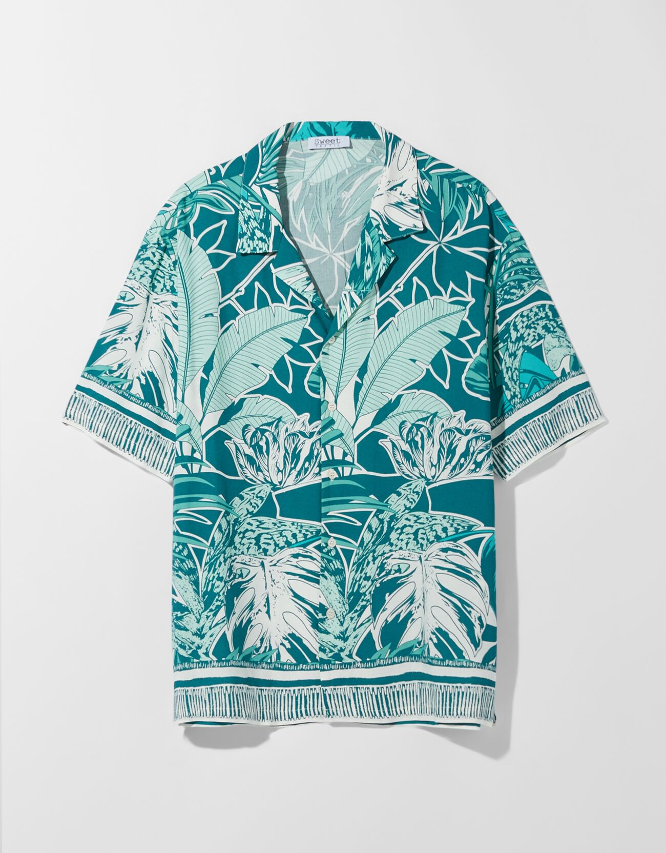 Camisa manga corta print pañuelo H&M