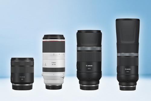 """RF 100-500 mm f/4,5-7,1L, RF 85 mm f/2 Macro y RF 600/ 800 mm f/11 IS STM: nuevo """"arsenal"""" de teleobjetivos para el sistema EOS R"""
