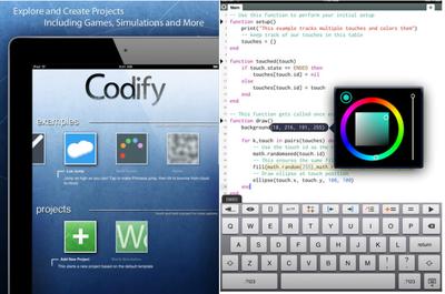 Codify, programa sencillos juegos con tu iPad