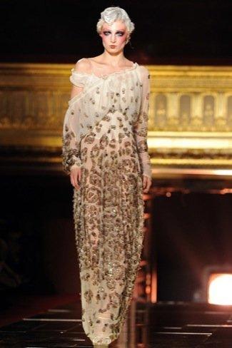 John Galliano Primavera-Verano 2011 vestido