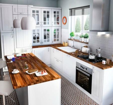 Una cocina abierta para compartir ideas para familias - Cocinas leroy merlin opiniones ...