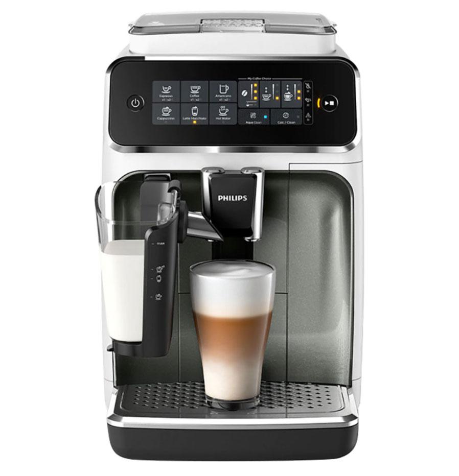 PHILIPS Cafetera espresso superautomática Philips serie 3200 LatteGo, 5 tipos de café