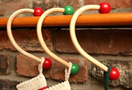 Decoración Navideña: Perchas para colgar el calcetín
