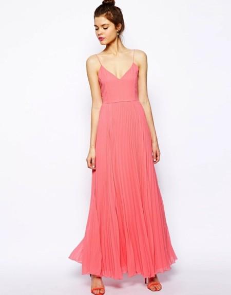Vestido chifon rosa