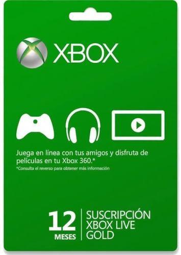 Membresia 12 Meses Xbox Live Gold 12890 Mlm20066745318 032014 O