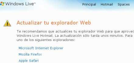Hotmail con problemas en Ubuntu