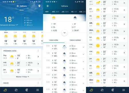 Aplicación Tiempo Weatherpro
