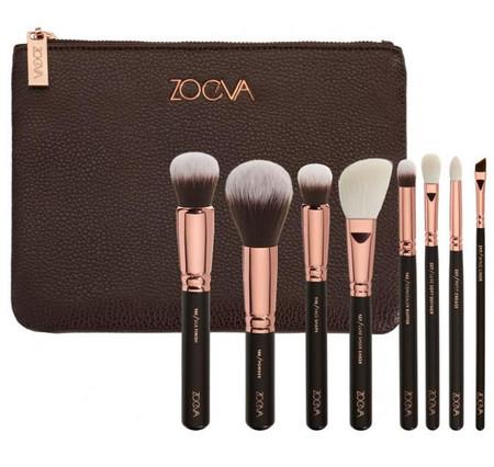 Colección de brochas oro rosa de Zoeva