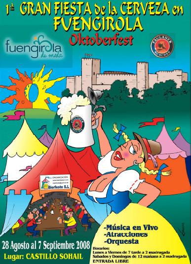 La I Fiesta de la cerveza en Fuengirola (Málaga)