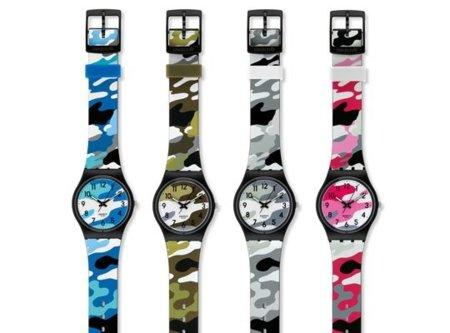 Relojes Swatch de camuflaje