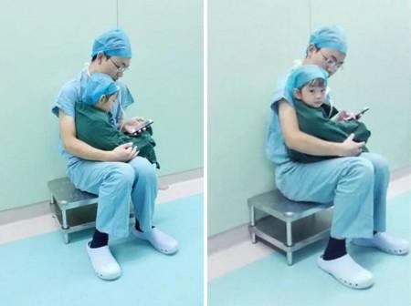 Doctor Comforts Girl Cartoons Operation China Shi Zhuo 4