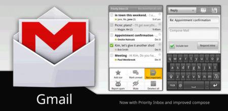 Gmail para Android actualizado con características de Ice Cream Sandwich