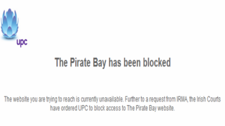 The Pirate Bay es bloqueada en Irlanda a través del operador UPC