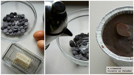 Pastel tibio de chocolate y café