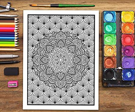 Mandalas Complejos Libro De Colorear Para Adultos