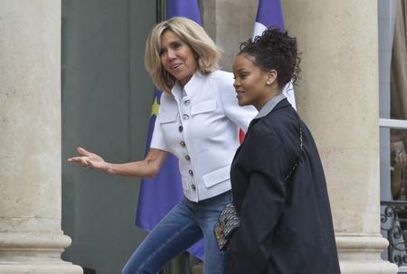 rihanna brigitte macron paris look estilismo outfit