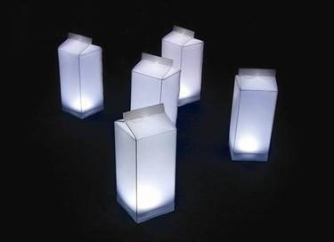 Lámparas con forma de tetrabrick