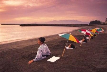 Playas volcánicas en Japón