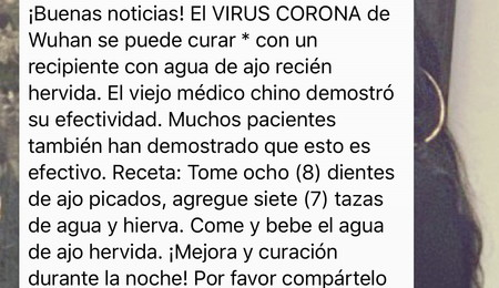 El coronavirus no es un vampiro