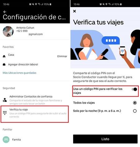 Uber Varificacion Pin Seguridad Mexico