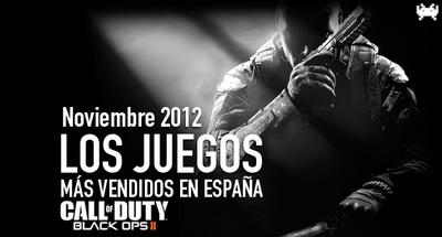 Los juegos más vendidos en España en noviembre 2012: volvemos a los disparos