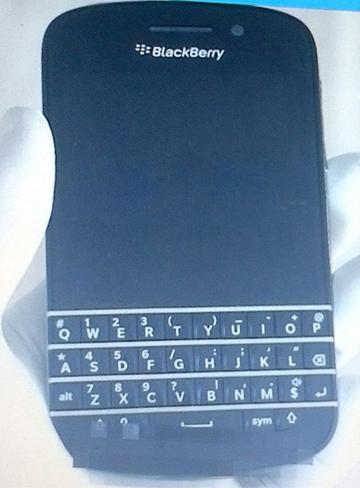 Primeras imágenes del teléfono BlackBerry 10 con teclado QWERTY