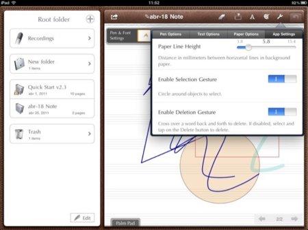 Algunas opciones de configuración de Notes Plus