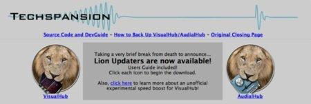 VisualHUB se actualiza para OS X Lion, la aplicación que resucita y muere al instante