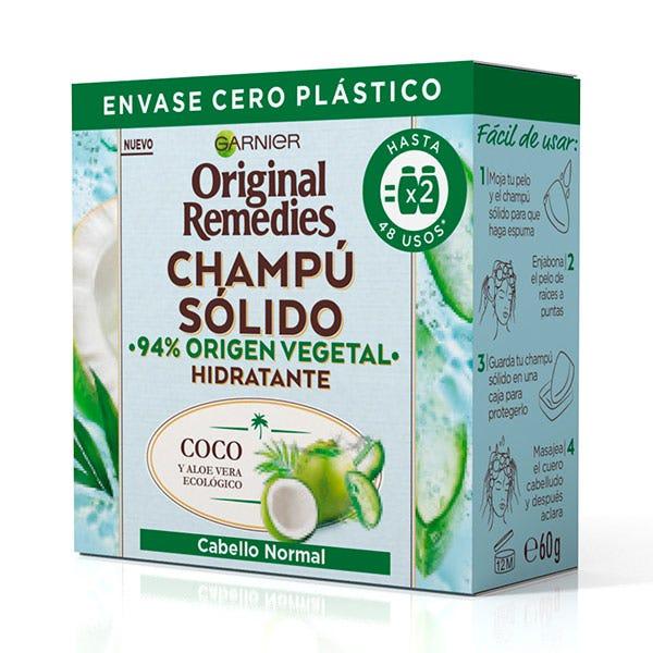 Champú Sólido Hidratante | 60GR Champú para Cabello Normal ORIGINAL REMEDIES