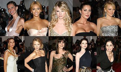 Celebrities en la gala del MET