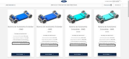 Ford Mach E Configurador Eeuu