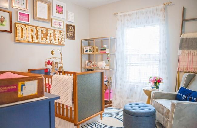 Una habitación para bebés con mucho encanto