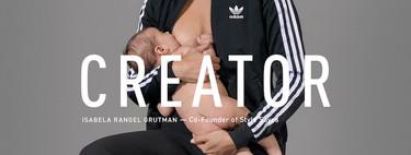 La nueva campaña de Adidas y Pharrell Williams apoya la maternidad y la lactancia con imágenes de mujeres dando el pecho
