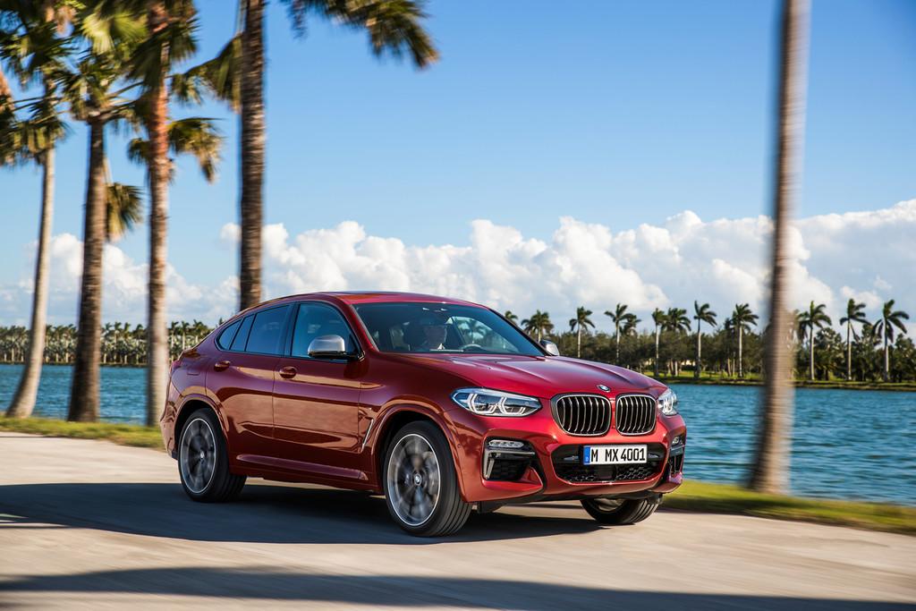 BMW X4 delantera en marcha