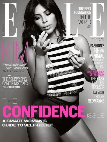 Kim (Kardashian) tras la conquista de las portadas de moda. Esta vez a por Elle