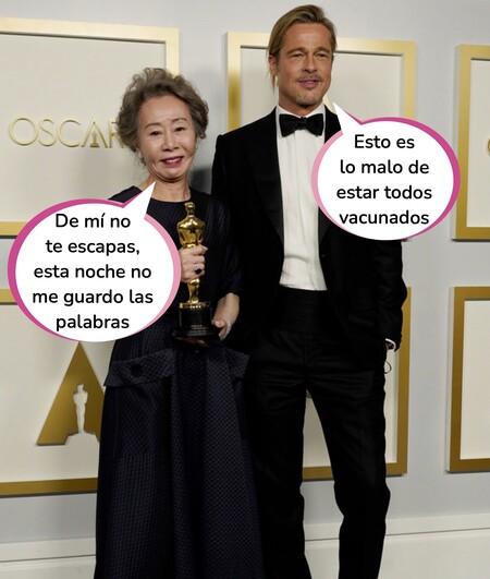 Los mejores memes de la soporífera gala de los Oscars 2021: Del twerking de Glenn Close a la ilusión de Yuh-Jung Youn por recibir la estatuilla de Brad Pitt