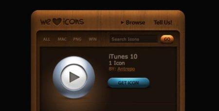 Siete iconos alternativos para iTunes 10