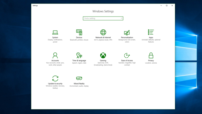 Game Section Windows Settings Windows 10