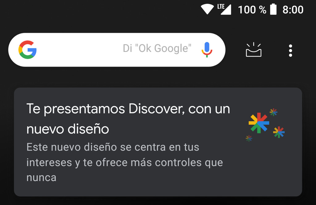 How to customize the new Discover Google for Android