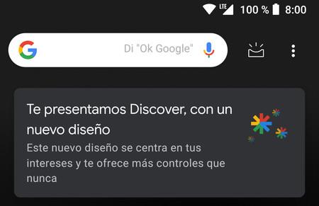 Cómo personalizar el nuevo Discover de Google para Android