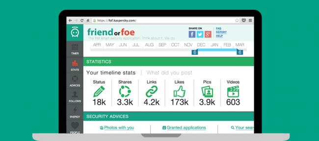 Friend or Foe, la web de Kaspersky que mantiene tu Facebook a raya