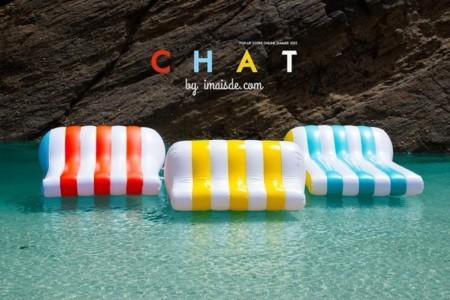 Chat, una colchoneta hinchable de diseño para la playa