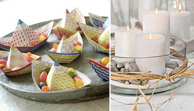 centros de mesa para Nochevieja con estilo marinero