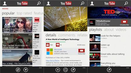 La aplicación oficial de YouTube llega una vez más a Windows Phone