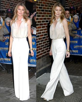 The Look of Ellen Pompeo at The Show of David Letterman