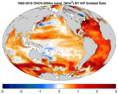 La temperatura de los océanos no deja de subir